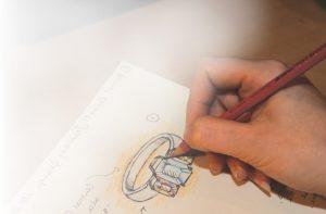 anel d enoivado desenhe a sua joia